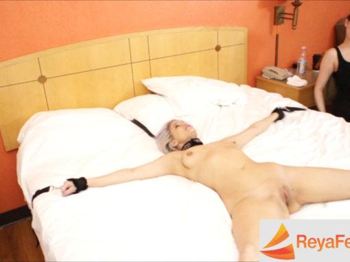Feverish Anabelle Pync Struggles Against Her Restraints
